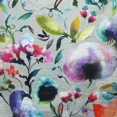 Sunflower Duckegg Chess Design Curtain//Craft Fabric