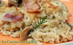 Arroz al horno con champinones, Receta Petitchef Couscous, Pasta Salad, Mashed Potatoes, Cauliflower, Yummy Food, Yummy Recipes, Food And Drink, Rice, Meat