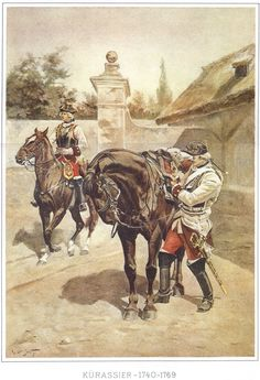 SOLDIERS- Ottenfeld: SYW- Austria: Austrian Cuirassiers 1740 - 1769, by R. Ottenfeld.