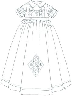 2010 Christening Gown Designs 1 | Internet Embroidery Club
