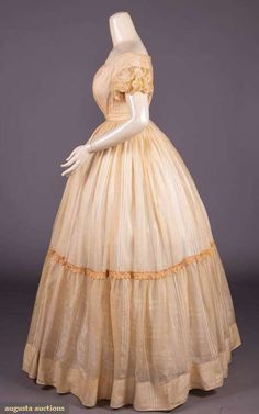 Upcoming Sales 1850s Fashion, Clothing And Textile, Historical Clothing, Day Dresses, Vintage Fashion, Textiles, Couture, Pink, Clothes