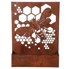 Plum & Post offers a wide selection of home accent, furniture, bedding, garden decor & more. Check out this Bumble Bee Rusted Wall Art Planter and view more products from Plum & Post. I Love Bees, Bee Art, Bee Design, Bee Theme, Metal Tree, Bee Happy, Bees Knees, Bee Keeping, Art Decor
