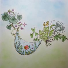 Take a peek at this great artwork on Johanna Basford's Colouring Gallery! Adult Coloring, Coloring Books, Magical Jungle Johanna Basford, Napkin Ideas, Joanna Basford, Johanna Basford Coloring Book, Colored Pencils, Sketching, Cool Art