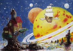 "The original is in our living room! ""Coming Home"" by Vernon Fourie Space Planets, Coming Home, Vernon, Art Director, Art Studios, Sci Fi, Ship, Fantasy, Living Room"