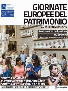 Le giornate europee del patrimonio – 24 -25 Settembre