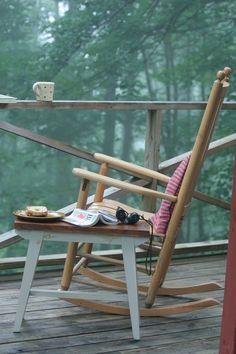 Outdoor rocking chair days.