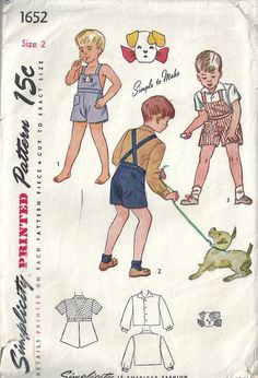 Best Image of Playsuit Pattern Sewing Playsuit Pattern Sewing 1945 Childrens Vintage Sewing Pattern Boys Playsuit Toddler Girl Romper, Baby Boy Dress, Baby Girl Dress Patterns, Baby Clothes Patterns, Clothing Patterns, Baby Patterns, Kids Clothing, Vintage Clothing, Vintage Fashion