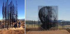 This is the Mandela Monument just outside Howick, in the Midlands area of KwaZulu-Natal province. The statue was erected last year to commemorate the place that Nelson Mandela was arrested on August 5, 1962, before being imprisoned on Robben Island.