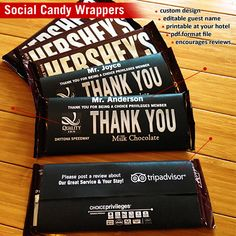 1000 images about hotel sales and marketing ideas on for Custom candy wrappers templates