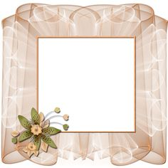 Beautiful Transparent Cream Frame with Flower