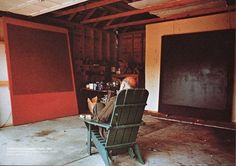 Mark Rothko, painter. |  Inspiring Workspaces Of The Famously Creative via Buzzfeed