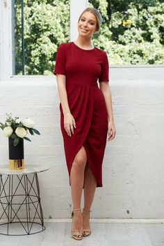 cf80a62896d Chasing Kate Adele Dress in Wine  89.90 The Adele Dress in Wine will take  you from