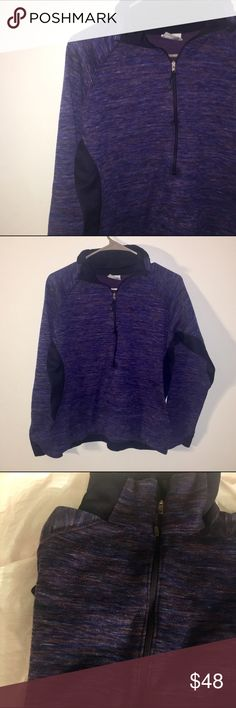 Columbia purple three quarter zip top EUC. Super comfy! Purple with other colors in small lines. Columbia Tops Sweatshirts & Hoodies