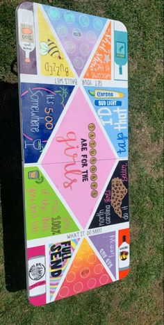 Custom Beer Pong Tables, Beer Table, Diy Table, College Crafts, Drinking Games For Parties, Sorority Crafts, Summer Diy, Table Games, Diy Canvas