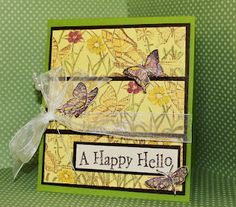 A Happy Hello card created by Robyn Weatherspoon using Clearsnap products