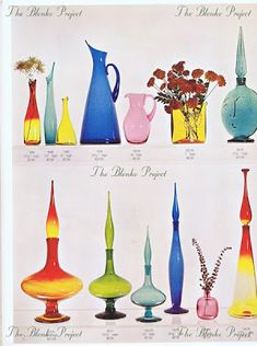 The Blenko Project is dedicated to recording the past, analyzing the present and being an advocate for the growth and preservation of BLENKO GLASS. Vintage Love, Vintage Decor, Vintage Glassware, Vintage Dishes, Blenko Glass, Rainbow Glass, Mid Century Modern Decor, Glass Collection, Antique Glass