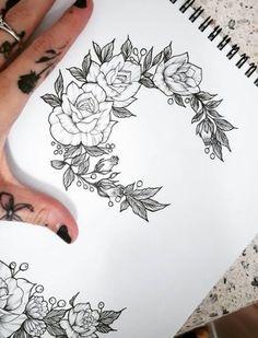 Tattoo Designs Drawings Sketchbooks Illustrations 59 Ideas For 2019 – Tattoo Sketches & Tattoo Drawings Shoe Tattoos, Girly Tattoos, Flower Tattoos, Tatoos, Tattoos Pics, Music Tattoos, Full Sleeve Tattoos, Tattoo Sleeve Designs, Tattoo Design Drawings