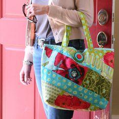 Quilt Inspiração: Dia padrão Free: sacolas!