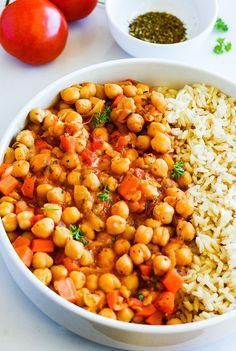 Chickpea Stew + Rice