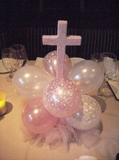 diy crocheted heart cake toppers baptism table decorationsbaptism