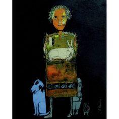Milenko Katic', Mom, 2015, Acrylic and Mixed Media on Panel, 14x11 - Kobalt Gallery, Provincetown