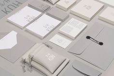 Love this - azy  Visual identity and stationery designed by Michael Boswell for jewellery designer Seohee Koh.