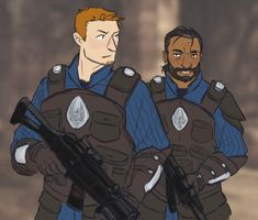 When people are talking about DA characters in modern AUs, they usually give them ordinary professions, and that's cool, but give me modern AU where darkspawn are still around and Grey Wardens are some kind of special forces with all modern gear also...