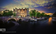 Popular on 500px : Sunset over Amsterdam. by remoscarfo http://ift.tt/1LBc2sW #photography