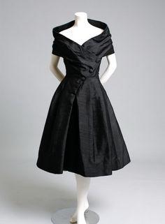 black vintage Christian Dior 1955