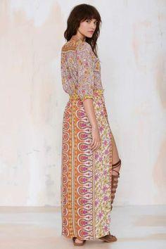 Spell Boho Blossom Maxi Dress - Orange - Day | Midi + Maxi