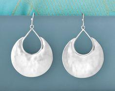 Summer style calls for summer silver: HALF-MOON BAY EARRINGS Shop US: www.Silpada.com /// Shop Canada: www.Silpada.Ca #SilpadaStyle #SummerSilver