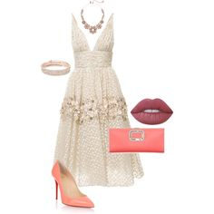 Untitled #681 by spectre11 on Polyvore featuring moda, Carolina Herrera, Christian Louboutin, Roger Vivier, Anne Klein, Kate Spade and Lime Crime
