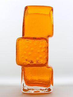 "Whitefriars ""drunken bricklayer"" glass vase by art-of-glass, via Flickr"