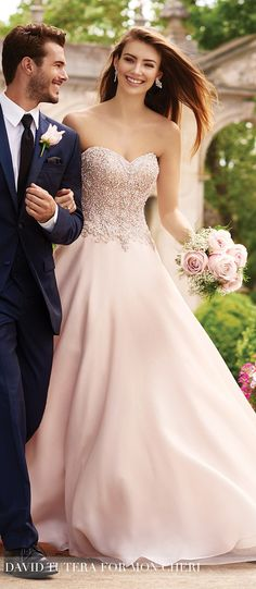 Wedding Trends 2017: Blushing Bridal Gowns With Mon Cheri Bridals - Belle The Magazine
