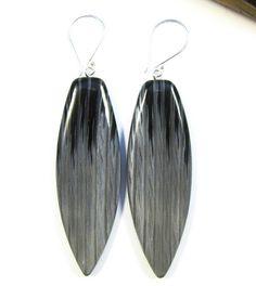 Faux Ikat Silver Flame Earrings by Lynda Moseley Diva Designs Inc, via Flickr