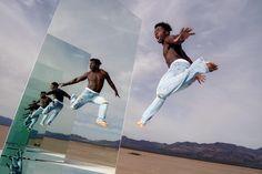 Endlessly reflected. Post is on blog-@joemcnally.com/blog. Manu Kiza flies high bet 2 huge mirrors. #picoftheday #mirror #nikonlove by joemcnallyphoto Endlessly reflected. Post is on blog-@joemcnally.com/blog. Manu Kiza flies high bet 2 huge mirrors. #picoftheday #mirror #nikonlove