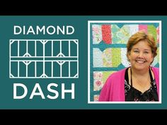 The Diamond Dash Quilt: Easy Quilting Tutorial with Jenny Doan of Missouri Star Quilt Co - YouTube