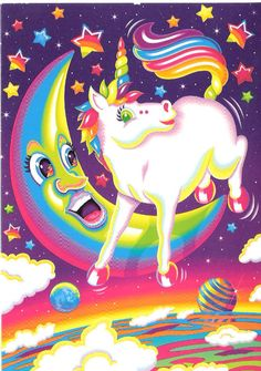 Juxtapoz Magazine - Inside the World of Lisa Frank Pegasus, Lisa Frank Unicorn, Lisa Frank Stickers, Unicorn Pictures, Rainbow Unicorn, Rainbow Vomit, Over The Moon, My Childhood, Whimsical