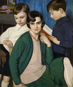 Sir William Oliphant Hutchison   Title: Reading Aloud; Margery and the Boys
