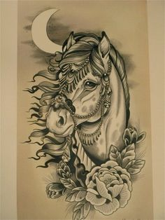 old school horse tattoo - Google-haku