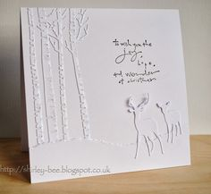 shirley-bee's stamping stuff: White Christmas Is this all white card amazing!!!