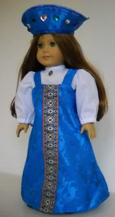 """Fits 18"""" American Girl doll Russia Russian sarafan dress clothes M (COSTUME ONLY #Handmade"""