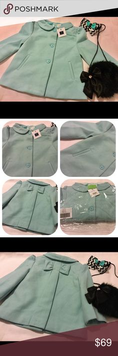 ❤️Janie and jack peacoat girls NWT size 5/6 Janie and Jack peacoat girls new 5/6 lovely so sad that didn't fit my daughter just purchased just want what I pay color turquoise Janie and Jack Jackets & Coats Pea Coats