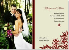 Winter bridal thank you card..