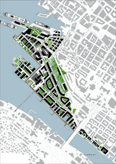 Image 6 of 10 from gallery of MAD Arkitekter and Asplan Viak Release Feasibility Study for Urban Dock Development in Norway. Courtesy of Mad Arkitekter and Asplan Viak Urban Design Concept, Urban Design Diagram, Urban Design Plan, Urban Landscape, Landscape Design, Planning School, City Layout, Skyline Design, Urban Analysis