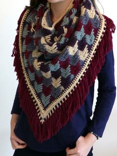 "I'm really excited about this design and so I hope you like it as much as I do! I had a bit of a delay in getting it to you, having run out of yarn for the fringing with only 2"" to go… It's…"