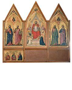 """Milano, in mostra i """"luoghi"""" di Giotto - Tgcom24 - Giotto, Polittico Stefaneschi recto,"""