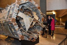 Tragic artifacts: The two also toured the 9/11 Museum, looking at symbols of the national ...
