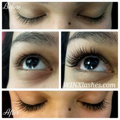 20dd2d8d693 Before and after eyelash extensions by Jodie @ WINX Lash and Makeup Studio,  Houston #
