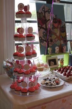 #desserts #cupcakes #owls #cute #babyshower our baby shower 3/3/2013